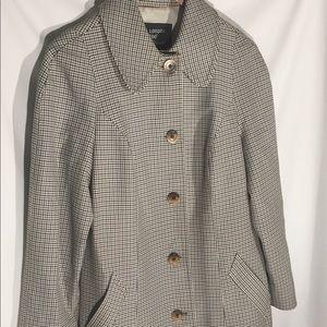 London Fog Maincoats Trench Coat Ladies 12 Vintage